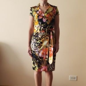 Cache tropical dress